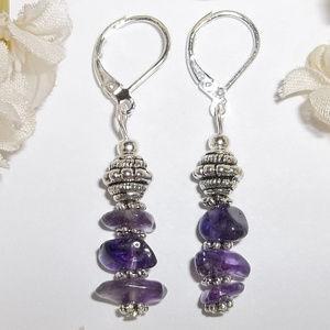 HOST PICK  ❤ Purple & Silver Earring Set NWT 4648